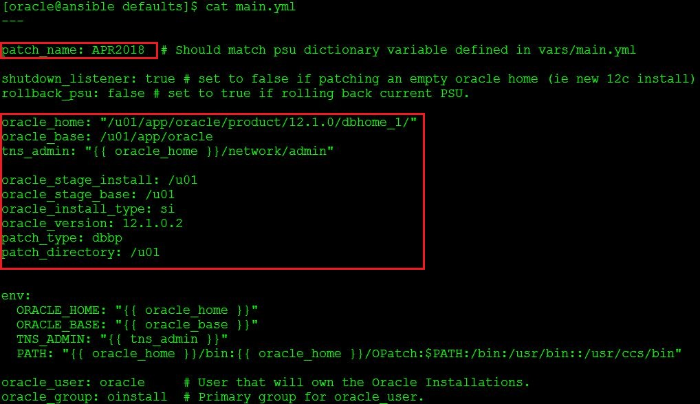 Oracle Automation-Applying PSU patch in Oracle 12c Database