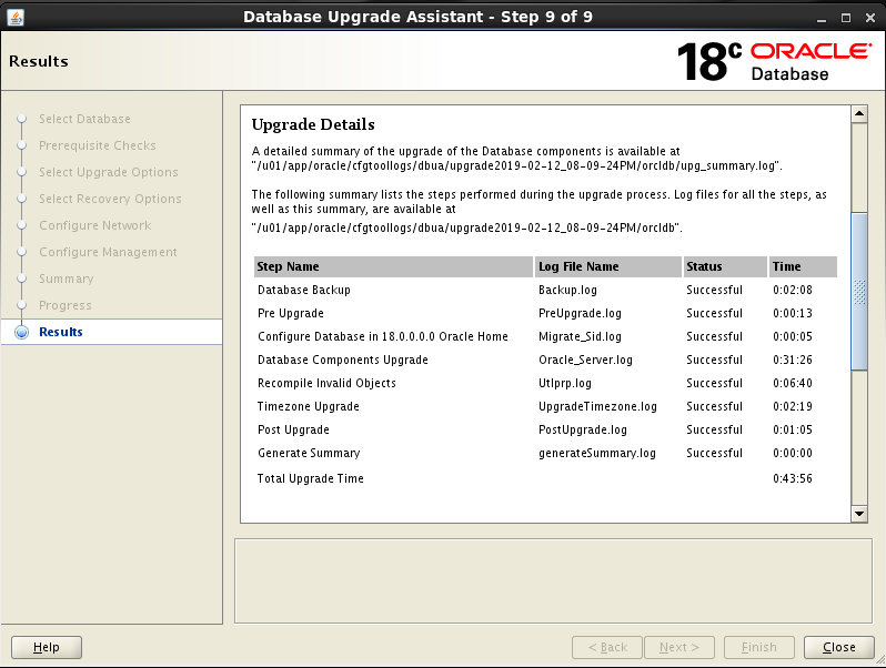 Oracle 18c Database Upgrade From 11.2.0.4 to 18.3.0.0 Using DBUA      Oracledbwr